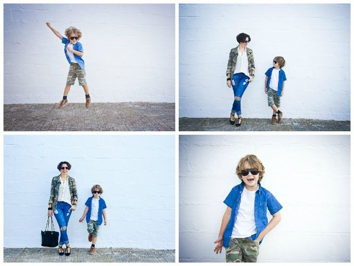 outfit low cost madre e hijo